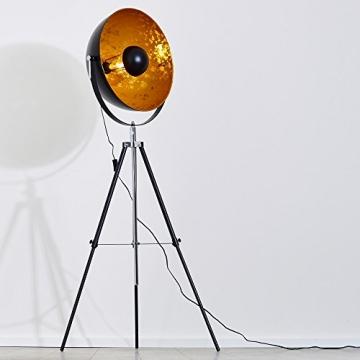 stehlampe saturn xxl farbe gold und schwarz h henverstellbar. Black Bedroom Furniture Sets. Home Design Ideas